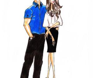 couple, dress, and girl image