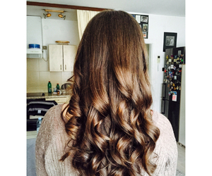 adorable, curly, and hair image