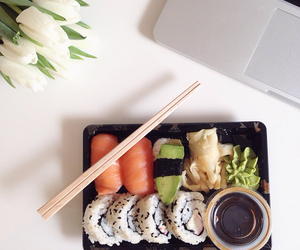 food, sushi, and love image