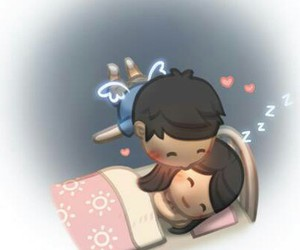 care, couple, and good night image