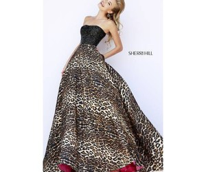 animal print, black, and dress image