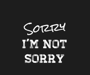 sorry and quote image