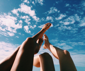 summer, sky, and legs image