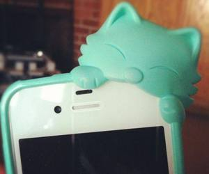 cat, iphone, and cute image