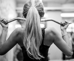 girl, hair, and fit image