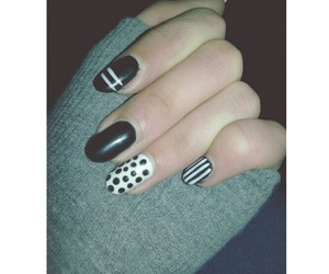 black, cool, and pois image