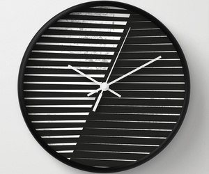 abstract, blackandwhite, and clock image