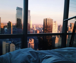 bed, bedroom, and view image