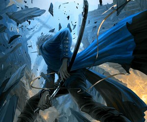 anime, awesome, and blue image
