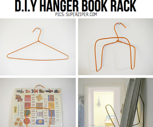 diy, book, and hanger image