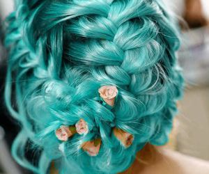braids, girl, and turquoise image
