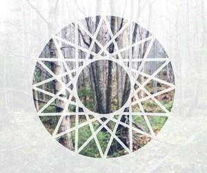 forest, mandala, and trees image