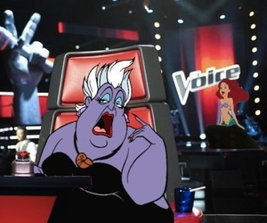 funny, the voice, and ariel image