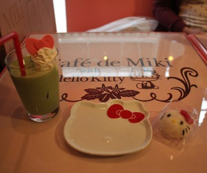 cafe, hello kitty, and japan image