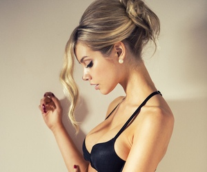 lingerie, model, and woman image