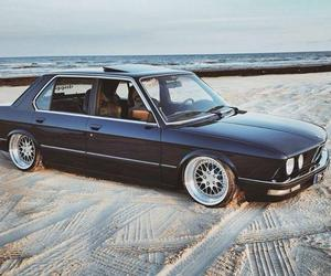 beach, black, and bmw image