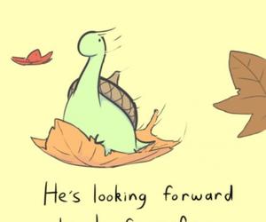 sheldon, autumn, and leaves image