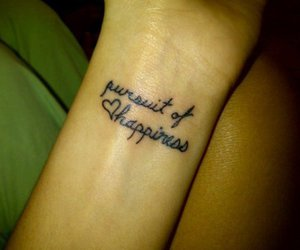 tattoo, cute, and pursuit of happiness image