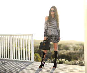 bag, blogger, and dress image