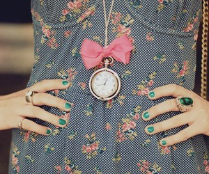 fashion, dress, and clock image