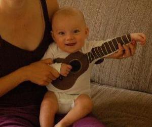 :3, guitar, and mom image