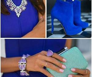 blue, accesorios, and look image