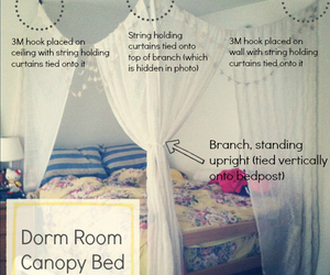 diy, bed, and canopy image