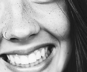 smile, girl, and piercing image