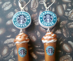 starbucks, key chains, and frappucinos image