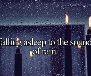 rain, sleep, and sound image
