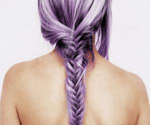 braid, colored hair, and green hair image