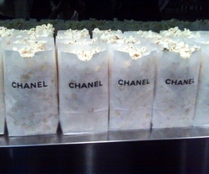 chanel, popcorn, and food image