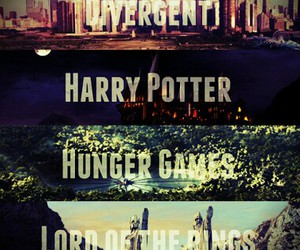 harry potter, lord of the rings, and hunger games image