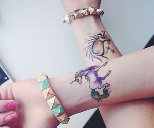 bracelets, girls, and hands image