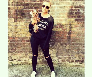 perrie edwards, little mix, and dog image