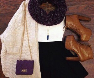 bag, outfits, and skirt image