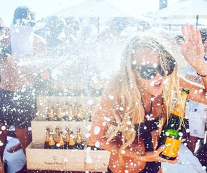 party, girl, and champagne image