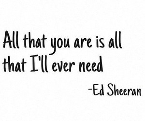 ed sheeran and Lyrics image