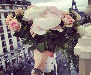 flowers, paris, and rose image