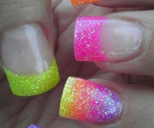 nails, colorful, and glitter image