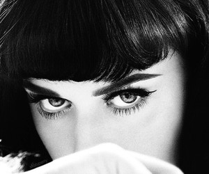 katy perry, eyes, and black and white image