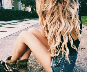 blond, blond hair, and simple image