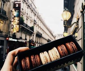 macaroons, chocolate, and food image