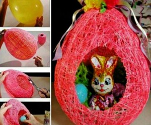 diy yarn easter basket image