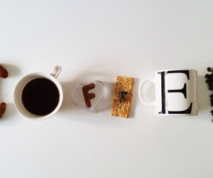 coffee, cookie, and cups image