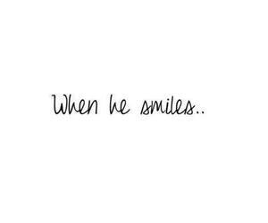 smile, love, and him image