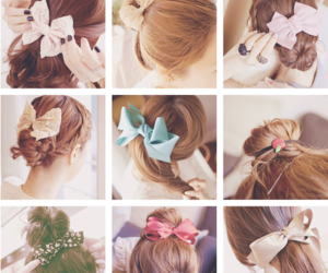 black, blue, and bows image