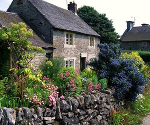 house, garden, and cottage image