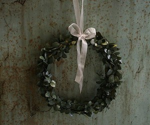 christmas, green, and wreath image