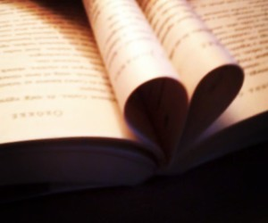 book, heart, and read image
